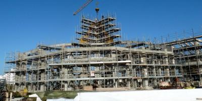 I lavori per la realizzazione della chiesa San Pio Marotta